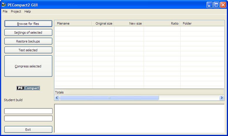 PECompact (Student Version) v2.79 Screenshot