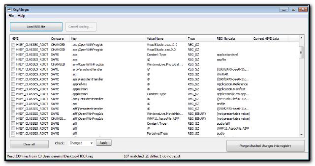 RegMerge Screenshot