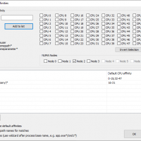 Set persistent CPU affinities to specify which CPU cores a process should run on