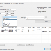 Create advanced Watchdog rules to act on processes when thresholds are exceeded