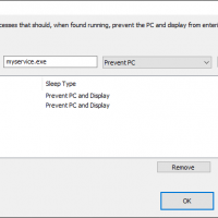 Specified processes keep the PC awake when they are running