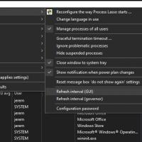 Process Lasso GUI refresh rate adjustment