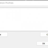 Manage Config Profiles Dialog
