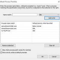 Persistent CPU Priority Classes