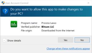 Bitsum UAC Prompt