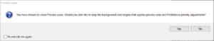 Process Lasso Core Engine Shutdown Query MessageBox