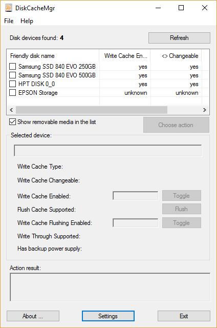 DiskCacheMgr Screenshot
