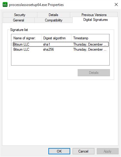 SHA1 and SHA2-256 digital code signing