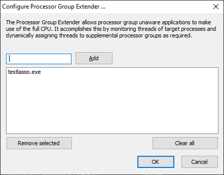 Processor Group Extender