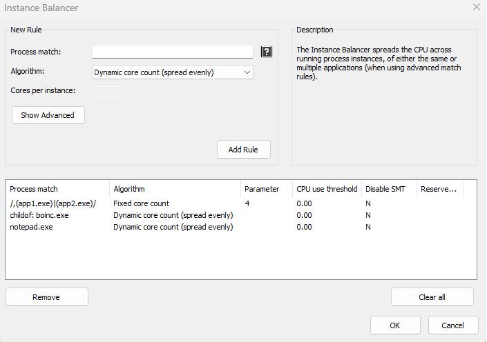 Process Lasso Instance Balancer
