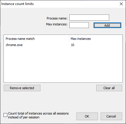 Instance Count Limit