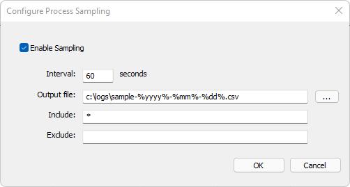 Process Sampling to CSV