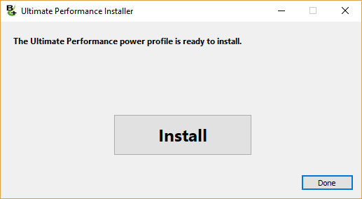 Ultimate Performance Installer