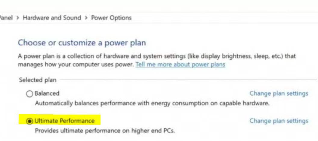 Windows 10 Ultimate Performance Mode